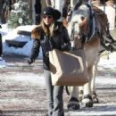 Lori Loughlin goes out on Christmas Eve to do a little last minute shopping in Aspen, Colorado on December 24, 2014 - 454 x 548