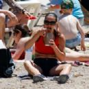 Kirsty Gallacher – Bootcamp Workout On Beach in Ibiza - 454 x 303