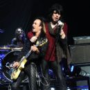 Jeff LaBar and Tom Keifer of Cinderella performs At The Nokia Theatre At L.A. Live on July 31, 2010 in Los Angeles, California