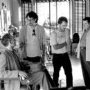 Billy Bob Thornton, Joel Coen, Ethan Coen and Michael Badalucco on the set of USA Films' The Man Who Wasn't There - 2001