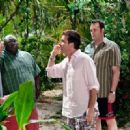 Joey (Jon Favreau), Shane (Faizon Love), Jason (Jason Bateman) and Dave (Vince Vaughn) in Universal Pictures' Couples Retreat. - 454 x 330