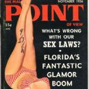 Eve Williams (Model) - Male Point Magazine Cover [United States] (November 1956)