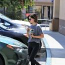 Lucy Hale – Buys Coffee in Studio City