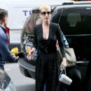 Katy Perry heading to office building in NYC