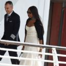 Naomi Campbell in Aereoport venice