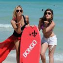 Lucy Hale and Ashley Benson hosted the Bongo Beach party today, March 24, in Miami. The girls are the new faces of the Bongo Brand