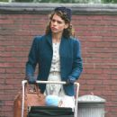 "Billie Piper Filming ""A Passionate Woman"" In West Yorkshire, October 27 2009"