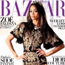 Zoe Saldana Covers Harper's Bazaar Arabia September 2012