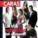 Christian Chávez, Christopher Von Uckermann, Maite Perroni, Dulce María, Alfonso Herrera, Anahí, Rbd - Caras Magazine Cover [Mexico] (April 2005)