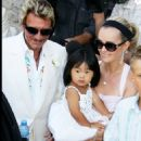 Johnny Hallyday and Laeticia Boudou