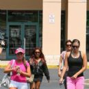 Deena Nicole Cortese walk back to their SUV after going to a tanning salon