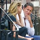 Amber Heard in Black Jeans with Vito Schnabel out in NYC - 454 x 636