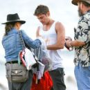 Zac Efron is seen on the set of 'We Are Your Friends'.09/10/2014