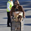 Chris Robinson out grocery shopping at Whole Foods in Brentwood, CA