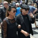 Brian Johnson and Brenda Johnson at the funeral service for AC/DC co-founder Malcolm Young at St Mary's Cathedral on November 28, 2017 in Sydney, Australia - 454 x 303
