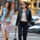Teri Hatcher goes for a walk with her daughter Emerson Tenney on August 14, 2015 in New York City - 417 x 600