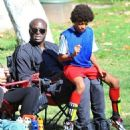 Seal is seen watching his kids Leni, Henry and Johan play soccer in Brentwood, California on January 31, 2015 - 454 x 539