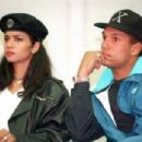 David Justice and Halle Berry - 454 x 305