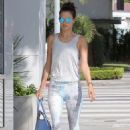 Alessandra Ambrosio In Soulcycle Out In Brentwood