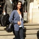 Lana Del Rey: leaving a London hotel