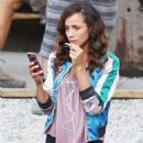 Dania Ramirez on the set of 'Once Upon a Time' in Vancouver