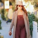 Nikki Reed in Long Summer Dress Out in Venice - 454 x 681