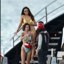 Bella Hadid in Bikini on the beach in St.Barts