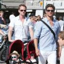 Neil Patrick Harris and David Burka taking the twins for a stroll in St. Tropez (August 2) - 454 x 660