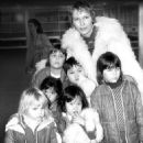 Natural and adopted: Mia Farrow in 1978 with some of her children Mathew, 7, Sasha, 7, Soon-yi, 7, Lark Song, 5, Fletcher, 5, and Summer, 3 - 454 x 487