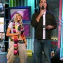 Christina Aguilera and Carson Daly