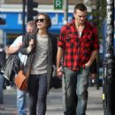 Keira Knightley & Rupert Friend Strolling Hand In Hand In East London - October 3, 2010 - 454 x 588
