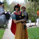 Molly Sims Takes Her Son Trick Or Treating In La