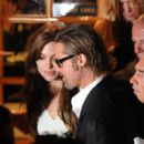 Angelina Jolie and Brad Pitt head out for dinner at Tetou restaurant on Sunday (May 15, 2011) in Golfe Juan, France