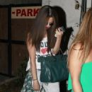 Selena Gomez got her hair chemically straightened today at a hair salon in West Hollywood, California on July 19, 2013 - 454 x 568