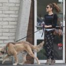 Eva Mendes: took her pooch to the Animal Hospital for a check up and trim in Westwood