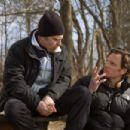 L-R: Sam Rockwell and Director Tony Goldwyn on the set. Photo by Ron Batzdorff - 454 x 303