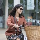 Jenna Coleman – Riding her new bike in London