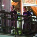 Harry Styles and Camille Rowe leaving a restaurant in Los Angeles - 454 x 439