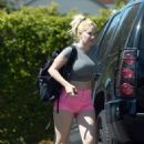 Heidi Montag in Pink Shorts – Out in Los Angeles - 454 x 633