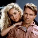 Sharon Stone and Arnold Schwarzenegger