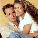 Luke Perry and Rebecca Gayheart