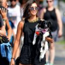 Nina Dobrev – Takes her dog Maverick out for a walk in NYC July 24, 2017
