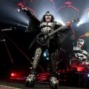 Gene Simmons of KISS performs during their End Of The Road World Tour at The Forum on February 16, 2019 in Inglewood, California - 454 x 402