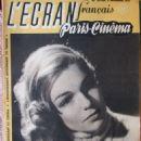Simone Signoret - L'Ecran Francais Magazine Cover [France] (9 December 1947)