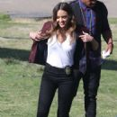 Jessica Alba and Gabrielle Union – On 'L.A.'s Finest' set in Los Angeles