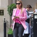Holly Valance – In a pink blazer out in London - 454 x 742