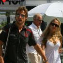 Jenson Button and Florence Brudenell