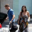 Brittny Ward in Long Dress with Jenson Button – Out in Los Angeles
