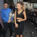 Ariana Grande  leaving the BBC Radio 1 Studios in London