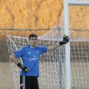 Iker Casillas of Real Madrid during a training session at Le Grande Satde de Marrakech on December 19, 2014 in Marrakech, Morocco